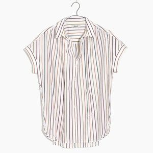 Madewell Central Button Down Shirt in Sadie Stripe